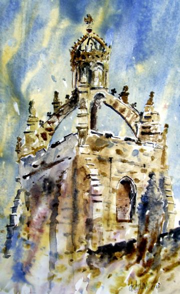 Kings College Lantern, Aberdeen - Watercolour